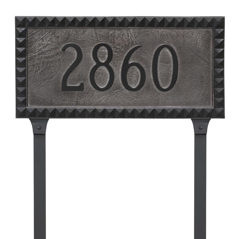 L Post Address Plaque