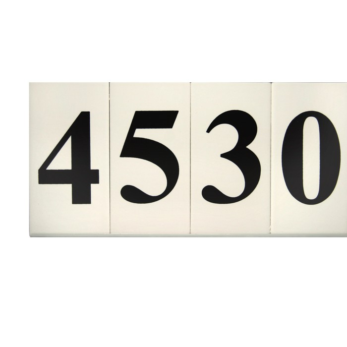 Ceramic house numbers in frame tuxedo for House number frames