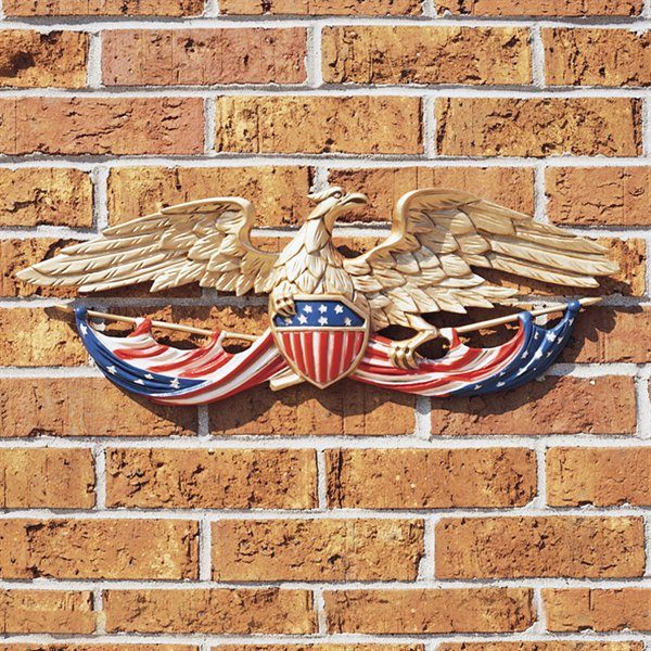 Eagle Wall Plaque Patriotic 24 Inches