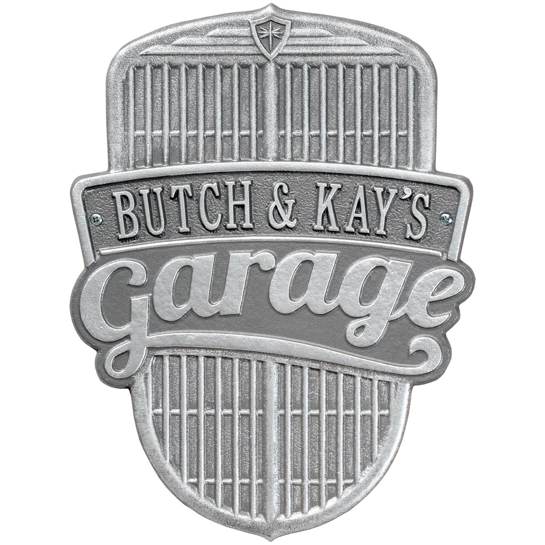 Car grille address plaque