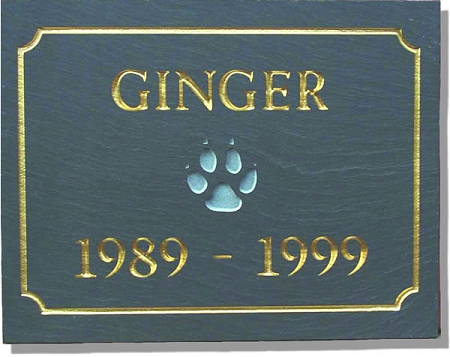 Pet Memorial Plaque In Slate