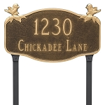 Chickadee Decorative Plaque Lawn