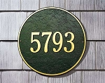 Round Address Plaque 15 Inches - Wall
