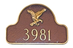 Eagle Arch Address Plaque