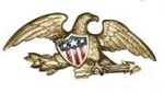Eagle for Gable or Wall - Gold Bronze