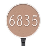 Round Address Plaque 18 Inches Lawn