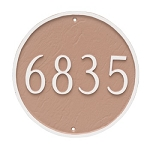 Round Address Plaque 18 Inches Wall
