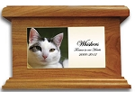 Cat Memorial Urn with Photo