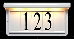Solar Address Plaque White
