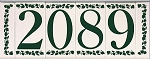 4 Inch Ceramic Tile House Numbers in Classic Font