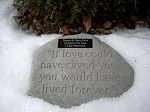 Personalized Memorial Stone - If love could have saved you