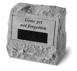 Personalized Memorial Stone Gone Yet Not Forgotten..