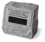 Personalized Memorial Stone With Urn If Tears Could..