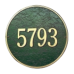 Round Address Plaque 15 Inches Wall