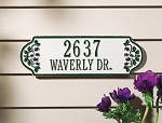 Catalina Blueberry Rectangle Address Plaque