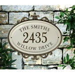 Ceramic Address Plaque - Hillsdale with Frame