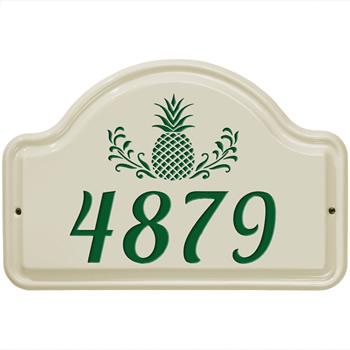 Ceramic Address Plaque Pineapple