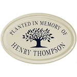 Ceramic Tree Memorial Plaque