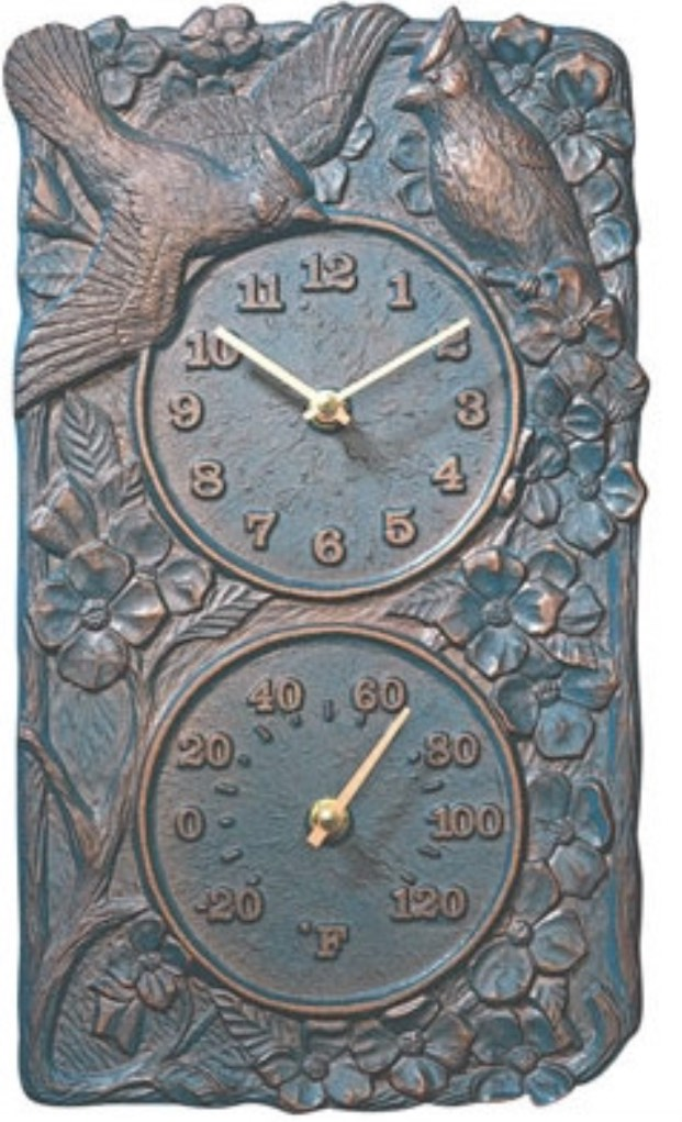 Cardinal Indoor Outdoor Thermometer Wall Clock