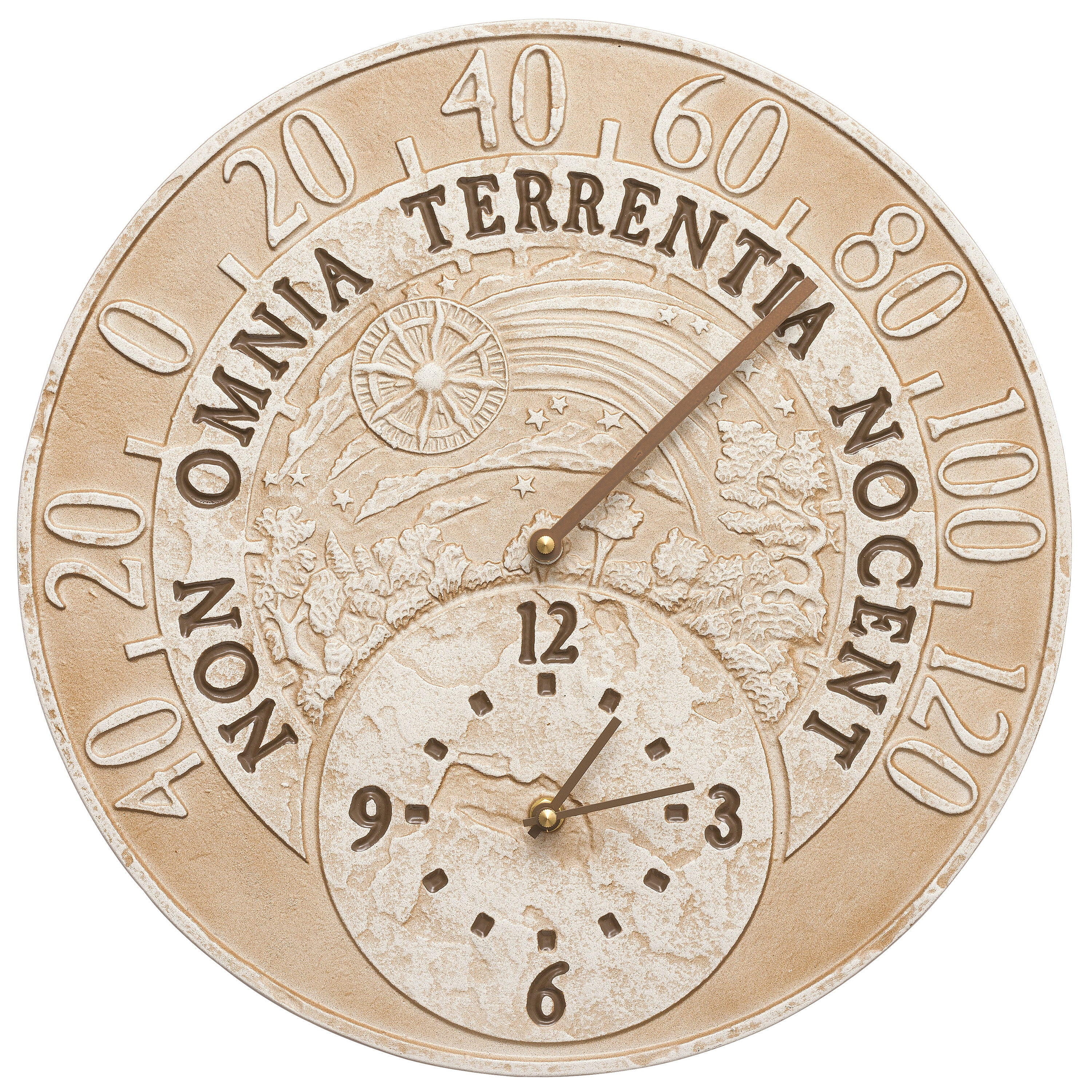 Celestial Indoor Outdoor Thermometer Wall Clock