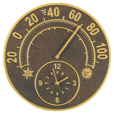 Solstice Indoor Outdoor Thermometer Amp Wall Clock