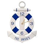 Anchor & Buoy Indoor/Outdoor Wall Clock Personalized