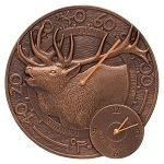 Elk Indoor/Outdoor Thermometer & Wall Clock