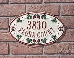 Catalina Strawberry Oval Address Plaque
