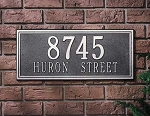 Double Line Address Plaque
