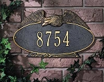 Eagle Address Plaque Oval