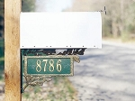 Two-Sided Mailbox Plaque Pinecone Design