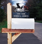 Two-Sided Mailbox Plaque - 2 Lines