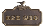 Chickadee Ivy Personalized Garden Sign