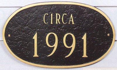 Circa Date Plaque