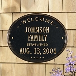 Welcome Established Plaque - Family
