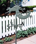 Cow over Moon Garden Weather Vane