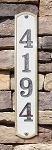 Knoll Brook Vertical Address Plaque, Crushed Stone