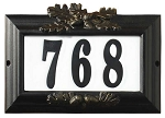 Misty Oak Lighted Address Plaque