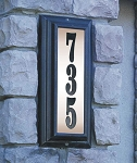 Edgewood Lighted Address Plaque: Vertical