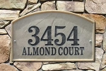 Riviera Address Plaque - Crushed Stone 6