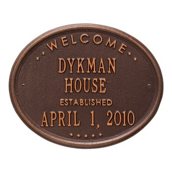 Welcome Established Plaque - House