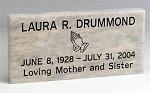 Memorial Marker Personalized Natural Stone