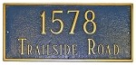 Rectangle Address Plaque 21 Inches