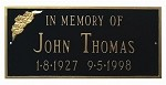 Memorial Plaque Rectangular 3 Lines