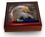 Keepsake Box: Patriotic Theme, Piano Finish