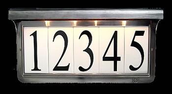 Solar Address Plaque Pewter