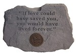 U.S. Army Memorial Stone - If love