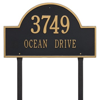 Arch Address Plaque for Businesses Estate Size