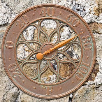 Medallion 18 Inch Indoor Outdoor Wall Thermometer