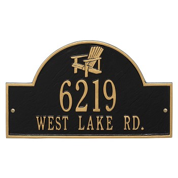 Adirondack Address Plaque
